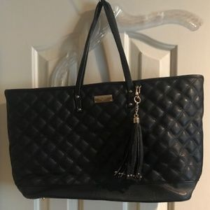 BCBG Paris Quilted Faux Leather Tote Handbag